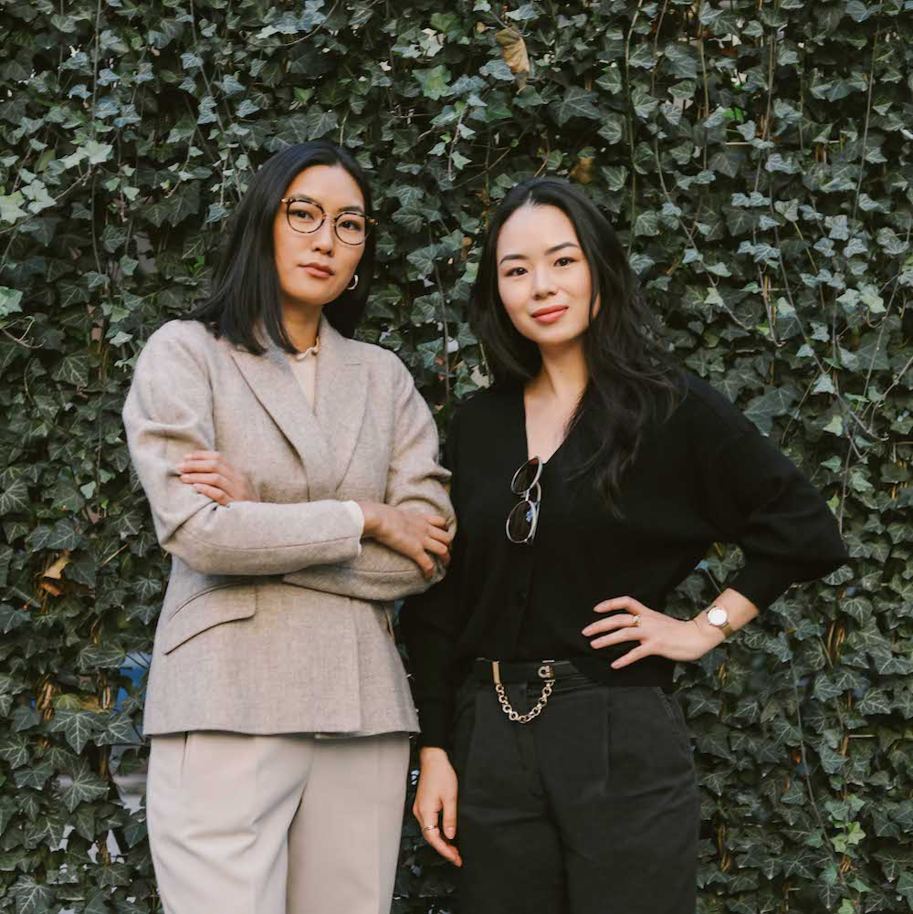 Image of Florence Shin, left, and Athina Wang, right
