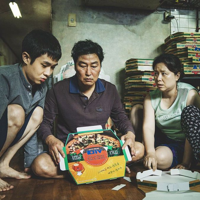 Korean family in Parasite